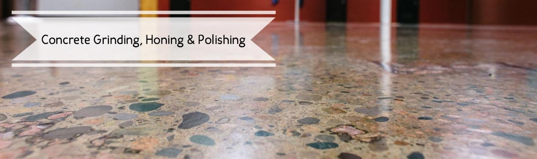 Concrete grinding, honing, and polishing title image.