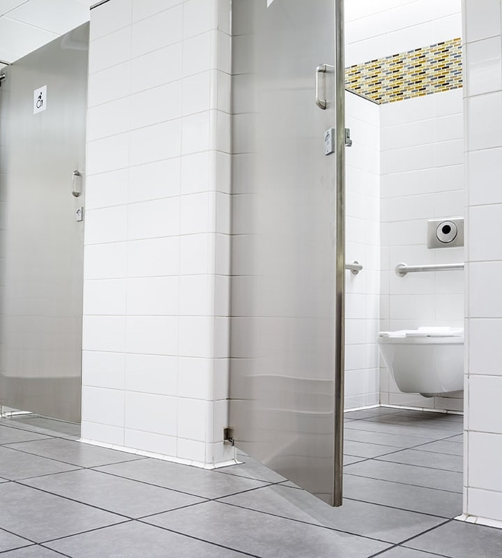 A clean commercial restroom.